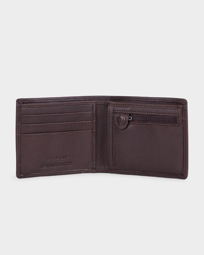 2 ICON LEATHER WALLET Brown 183573 Element