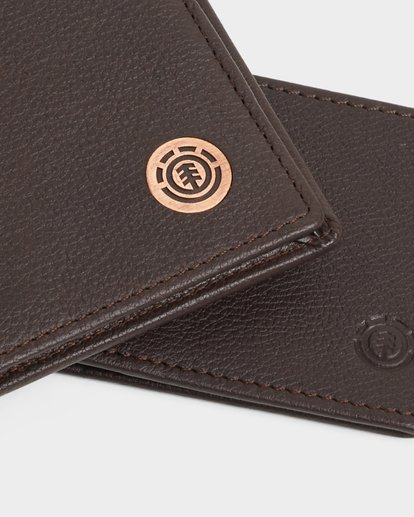 5 ICON LEATHER WALLET Brown 183573 Element