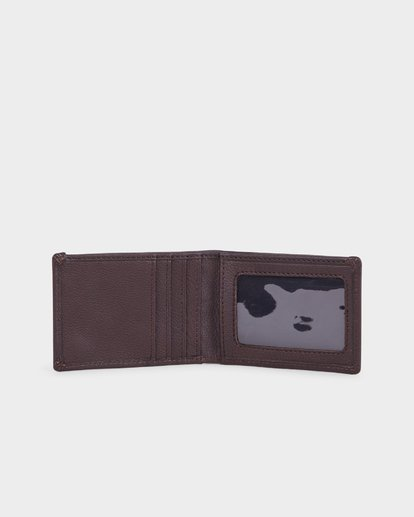 3 ICON LEATHER WALLET Brown 183573 Element