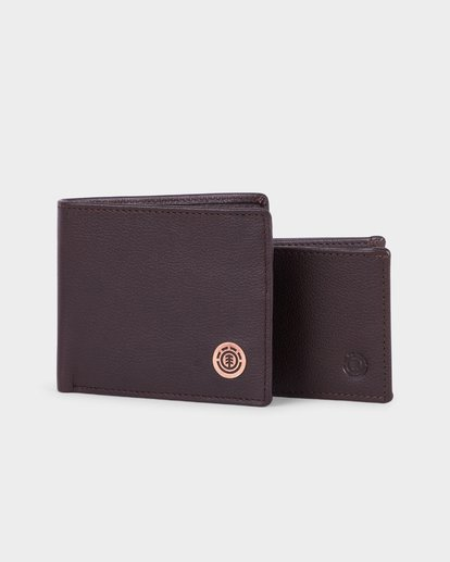 4 ICON LEATHER WALLET Brown 183573 Element