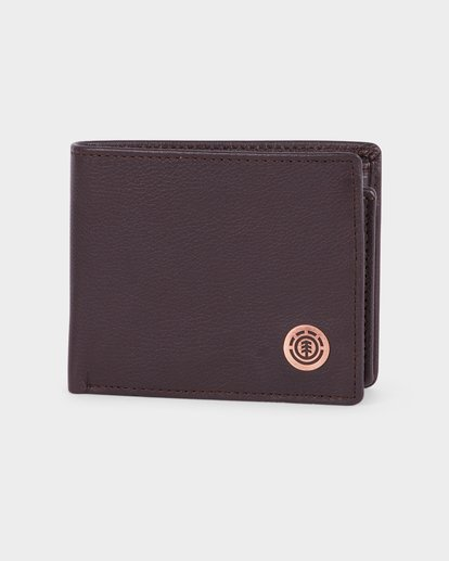 0 ICON LEATHER WALLET Brown 183573 Element