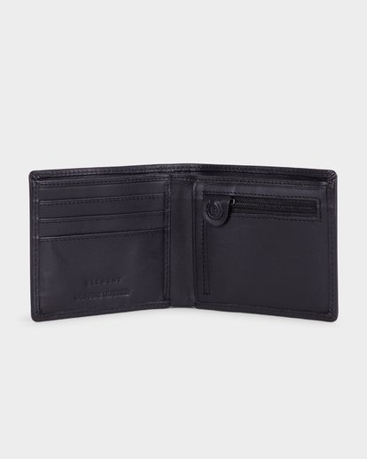 2 ICON LEATHER WALLET Black 183573 Element