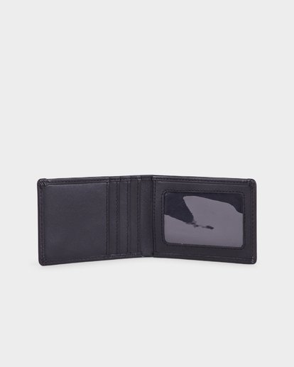 3 ICON LEATHER WALLET Black 183573 Element