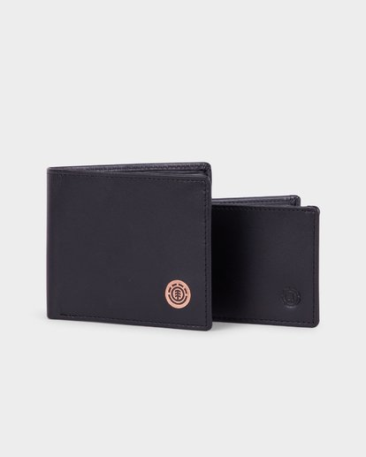 4 ICON LEATHER WALLET Black 183573 Element