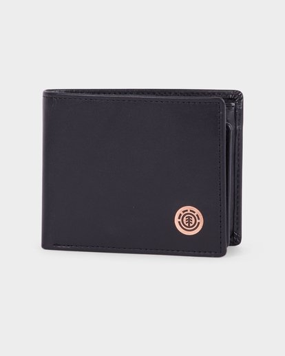 0 ICON LEATHER WALLET Black 183573 Element