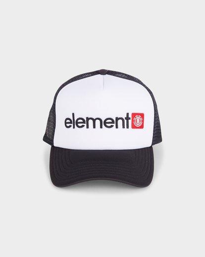 1 HORIZONTAL TRUCKER CAP White 183608 Element