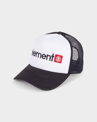 0 HORIZONTAL TRUCKER CAP White 183608 Element