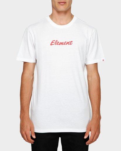 0 SIMPLE MAN SHORT SLEEVE TEE White 193012 Element