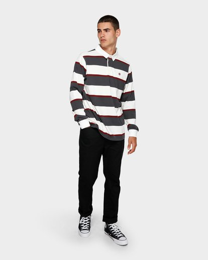 3 Chasin It Rugby Long Sleeve Polo  193151 Element