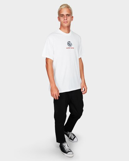 3 Element House Ss Tee White 194019 Element