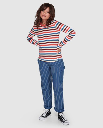 4 CANDY CANE LONG SLEEVE TEE Red 207051 Element