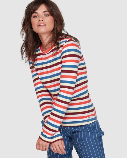 0 CANDY CANE LONG SLEEVE TEE Red 207051 Element