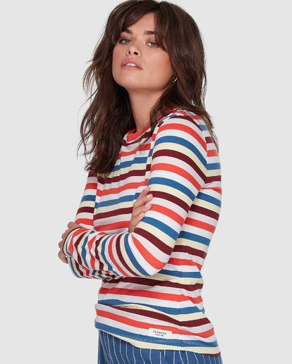 2 CANDY CANE LONG SLEEVE TEE Red 207051 Element