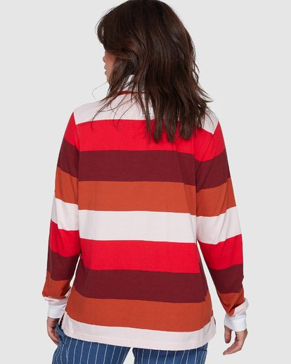 1 BREAK DOWN RUGBY LONG SLEEVE TOP Red 207152 Element