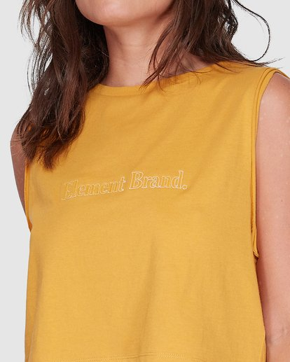 3 SWEET THING CROPPED TANK TOP Yellow 207271 Element