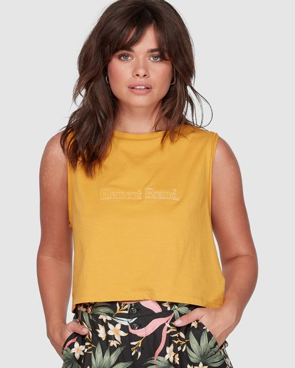 0 SWEET THING CROPPED TANK TOP Yellow 207271 Element