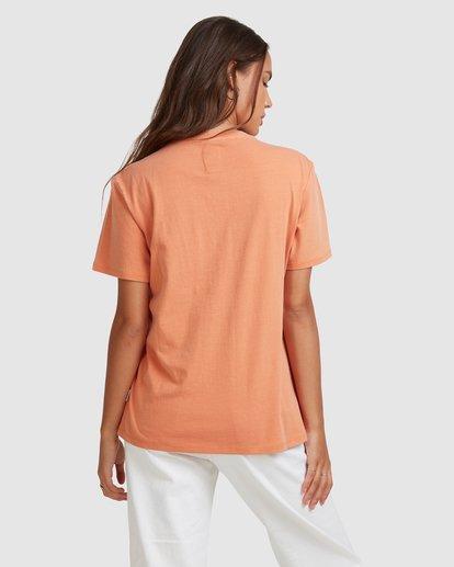 3 LANE SHORT SLEEVE TEE Orange 217004 Element