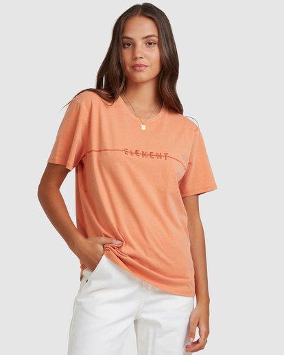0 LANE SHORT SLEEVE TEE Orange 217004 Element