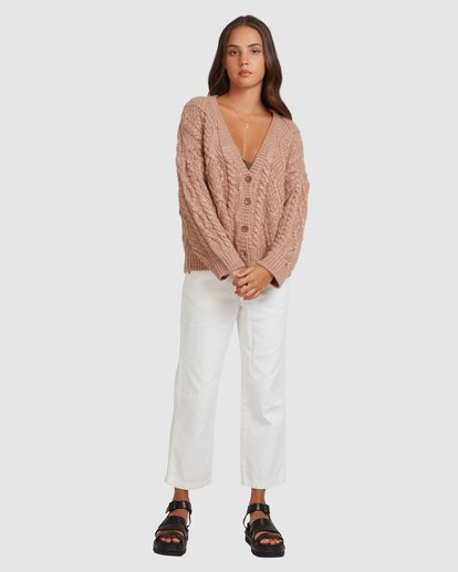 5 CAMDEN KNITTED CARDIGAN Brown 217152 Element