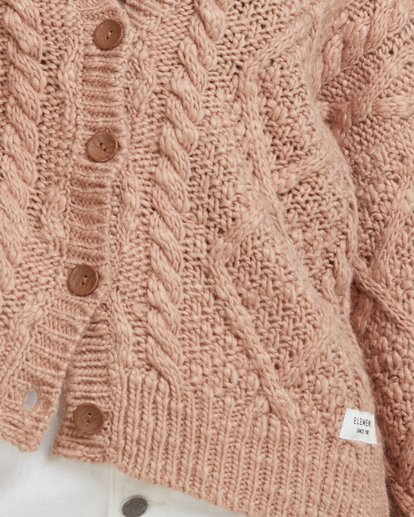 4 CAMDEN KNITTED CARDIGAN Brown 217152 Element
