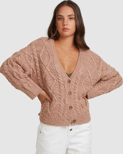0 CAMDEN KNITTED CARDIGAN Brown 217152 Element