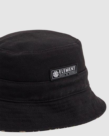 3 DITSY REVERSIBLE BUCKET HAT Black 217601 Element