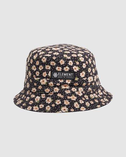 0 DITSY REVERSIBLE BUCKET HAT Black 217601 Element