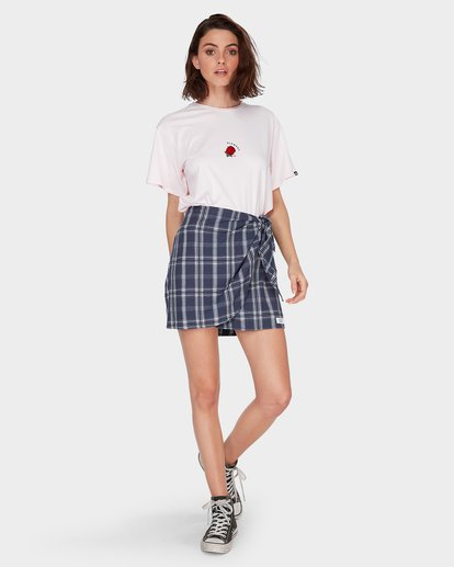 3 LOOPED CHECK SKIRT Blue 284854 Element