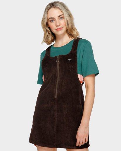 0 LYLA CORDUROY PINAFORE DRESS Brown 293866 Element