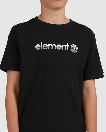 3 YOUTH HORIZONTAL SHORT SLEEVE TEE Black 383001 Element