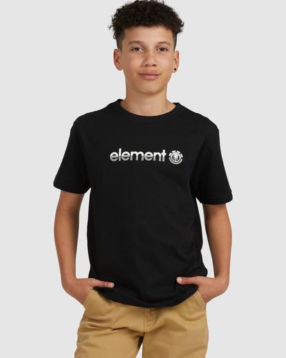 0 YOUTH HORIZONTAL SHORT SLEEVE TEE Black 383001 Element