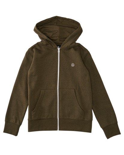 0 Boys' Cornell Classic Zip-Up Hoodie Beige ALBFT00134 Element