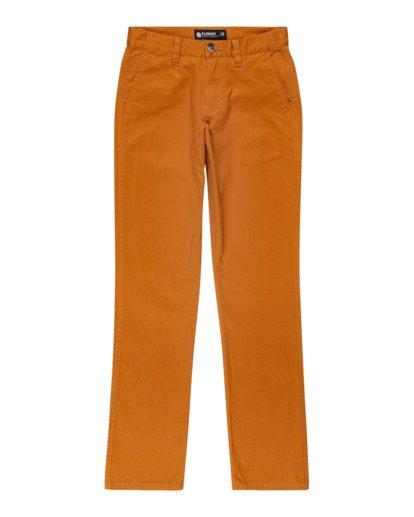 0 Boys' Howland Classic Chino Pants Brown ALBNP00104 Element
