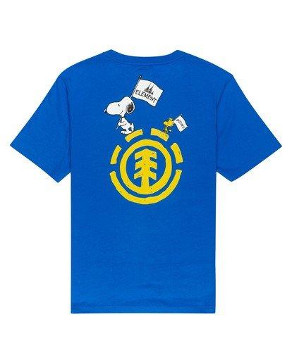0 Youth Peanuts x Element Slide T-Shirt Blue ALBZT00133 Element
