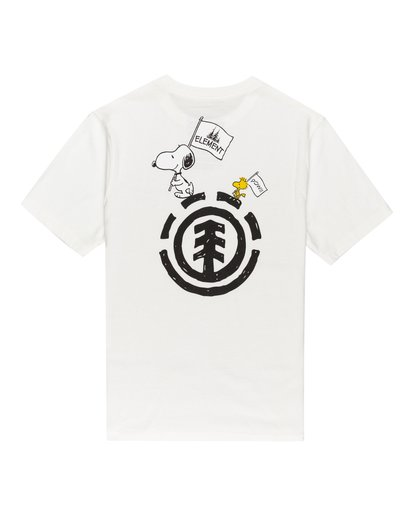 0 Youth Peanuts x Element Slide T-Shirt White ALBZT00133 Element