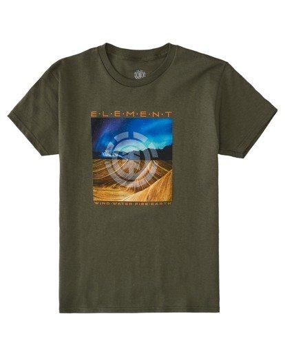 0 Boys' Dusky Short Sleeve T-Shirt Beige ALBZT00151 Element