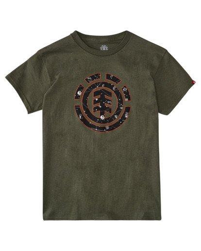 0 Boys' Cookie Galaxy Short Sleeve T-Shirt Beige ALBZT00157 Element