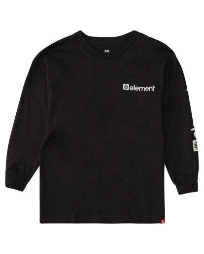 0 Boys' Joint Long Sleeve T-Shirt Blue ALBZT00158 Element