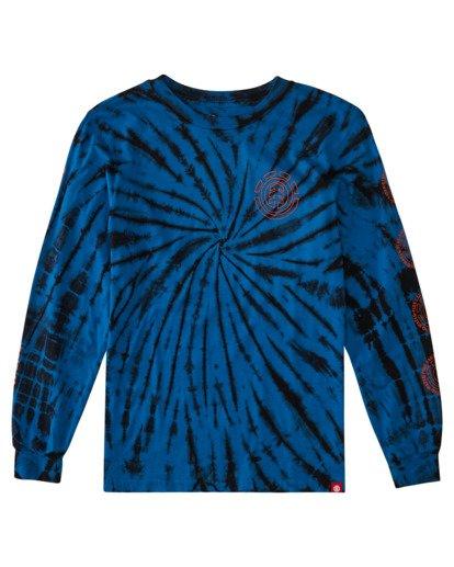 0 Boys' Drake Long Sleeve T-Shirt Blue ALBZT00160 Element