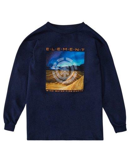 0 Boys' Dusky Long Sleeve T-Shirt Blue ALBZT00162 Element