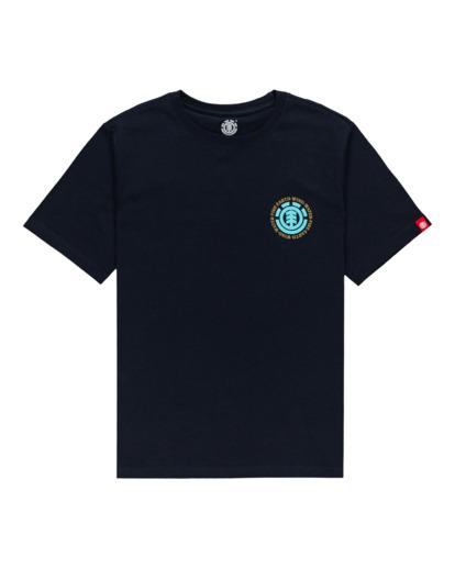 0 Boys' Seal Short Sleeve T-Shirt Blue ALBZT00164 Element