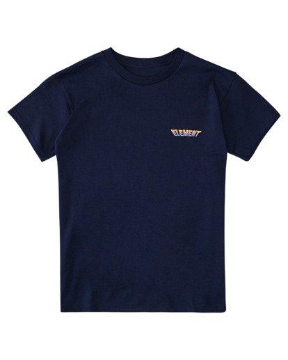 0 Boys' Wild Style Short Sleeve T-Shirt Blue ALBZT00166 Element