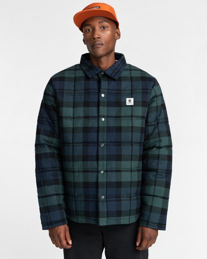 2 Lodge Flannel Shirt Black ALYJK00155 Element
