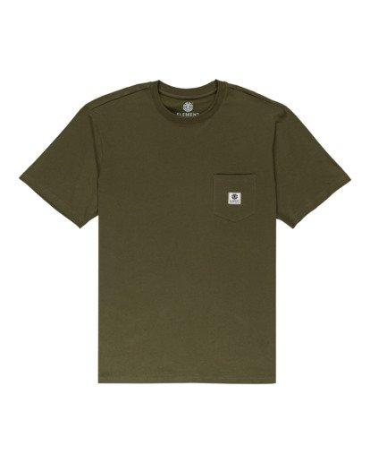 0 Basic Pocket Label Short Sleeve T-Shirt Beige ALYKT00121 Element