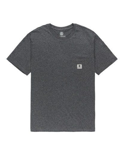 0 Basic Pocket Label Short Sleeve T-Shirt Grey ALYKT00121 Element