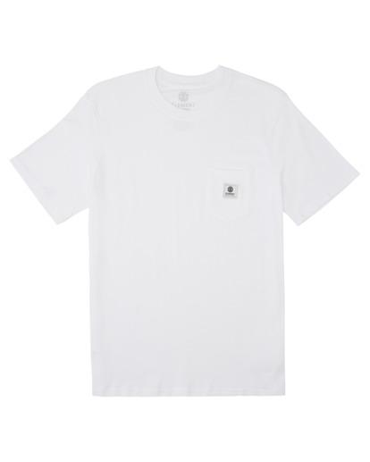 0 Basic Pocket Label Short Sleeve T-Shirt White ALYKT00121 Element
