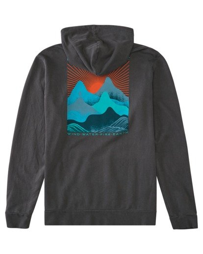 1 Lahotan Pigment Pullover Hoodie Blue ALYSF00141 Element