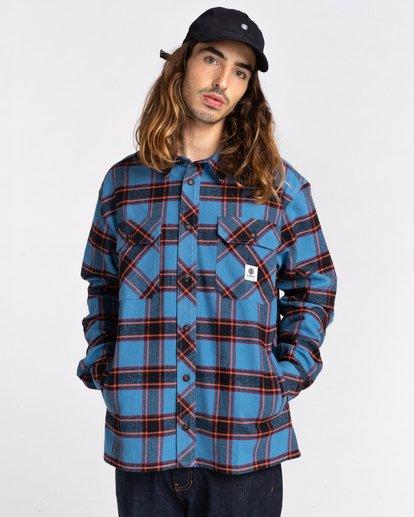 1 Wentworth Flannel Shirt Blue ALYWT00116 Element