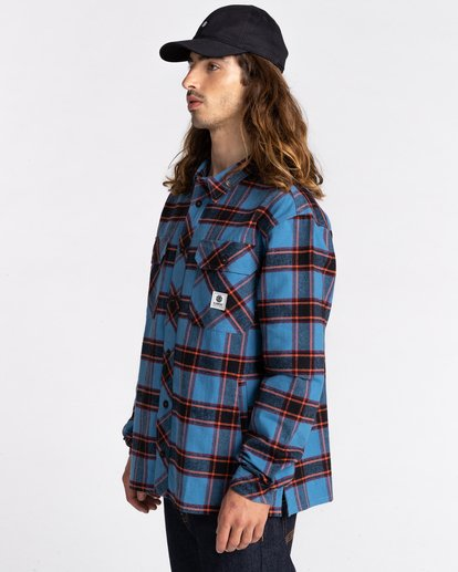 2 Wentworth Flannel Shirt Blue ALYWT00116 Element