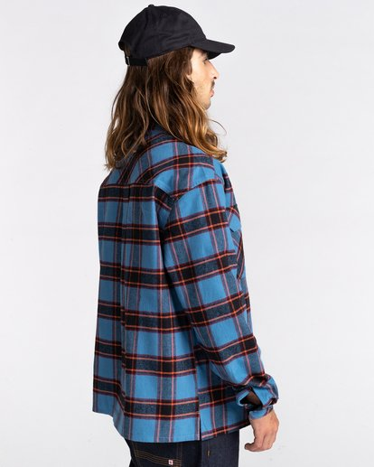 3 Wentworth Flannel Shirt Blue ALYWT00116 Element